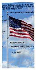 Pledge Of Allegiance Bath Towel by Paul  Wilford