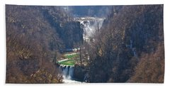 Plitvice Lakes National Park Canyon Bath Towel