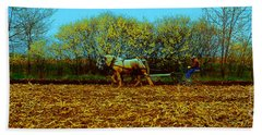 Hand Towel featuring the photograph Plow Days Freeport  Tom Jelen by Tom Jelen