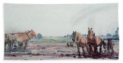 Plow Horses Hand Towel