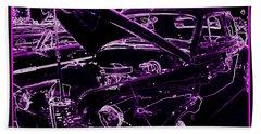 Hand Towel featuring the digital art Plum Perfect by Bobbee Rickard