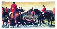 Hand Towel featuring the photograph Plum Run Hunt Opening Day by Angela Davies
