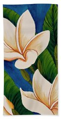 Hand Towel featuring the painting Plumeria  by Darice Machel McGuire