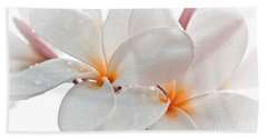 Hand Towel featuring the photograph Plumeria by Roselynne Broussard