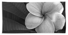 Plumeria With Raindrops Bath Towel