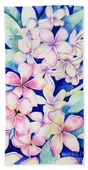 Plumerias Of Maui Bath Towel