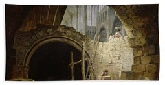 Plundering The Royal Vaults At St. Denis In October 1793 Oil On Canvas Hand Towel