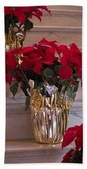 Poinsettias Bath Towel