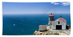 Point Reyes Lighthouse California Bath Towel