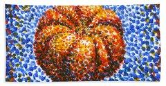 Pointillism Pumpkin Bath Towel