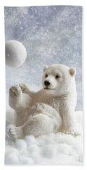 Polar Bear Decoration Hand Towel