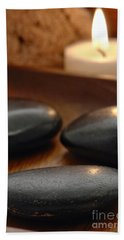 Polished Stones In A Spa Hand Towel
