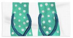 Polka Dot Flip Flops I Hand Towel