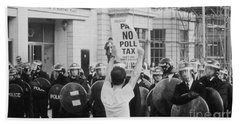 Poll Tax Riots London Hand Towel