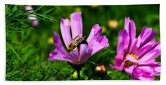 Pollinating Flowering Hand Towel
