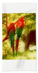 Hand Towel featuring the photograph New Orleans Polly Wants Two Crackers At New Orleans Louisiana Zoological Gardens  by Michael Hoard