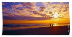 Ponce Inlet Fl Sunrise  Bath Towel by Tom Jelen