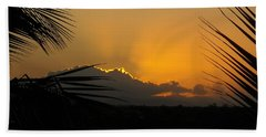 Bath Towel featuring the photograph Ponce Sunrise by Daniel Sheldon