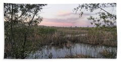 Pond At Sunset Hand Towel