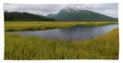 Pond In Middle Of Sedge Meadow Bath Towel