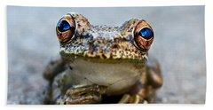 Pondering Frog Bath Towel