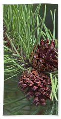 Ponderosa Pine Cones Bath Towel by Sharon Talson