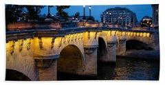 Pont Neuf Bridge - Paris France Hand Towel