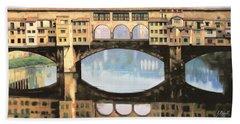 Ponte Vecchio A Firenze Hand Towel