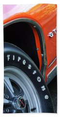 1969 Pontiac Gto Judge Coupe Tire Emblem Bath Towel