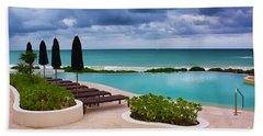 Bath Towel featuring the photograph Pool At Rosewood Mayakoba by Teresa Zieba