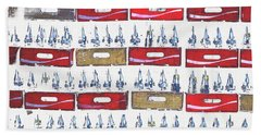 Pop Art Coke Cases Hand Towel by Tom Wurl