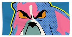 Pop Art Dog  Bath Towel
