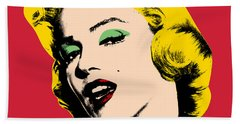 Pop Art Hand Towel by Mark Ashkenazi