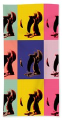 Pop Art Penguin  Bath Towel