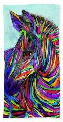 Pop Art Zebra Hand Towel by Jane Schnetlage