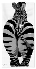 Bath Towel featuring the photograph Pop Art Zebra by Kenny Francis