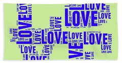 Pop Love 5 Hand Towel