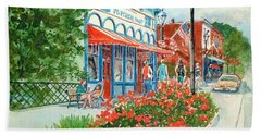 Popcorn Shop In Summer/chagrin Falls Hand Towel