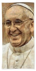 Pope Francis Bath Towel
