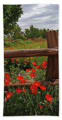 Poppies At The Farm Bath Towel by Lynn Bauer