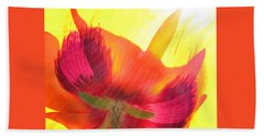 Poppies Gone Wild 2 Hand Towel