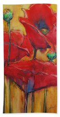 Bath Towel featuring the painting Poppies IIi by Jani Freimann
