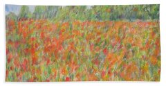 Poppies In A Field In Afghanistan Bath Towel