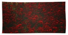 Poppies In The Rain Bath Towel