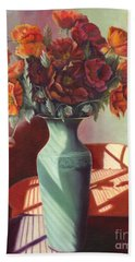 Bath Towel featuring the painting Poppies by Marlene Book