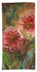 Poppies Hand Towel by Mary Wolf