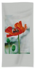Poppy - 1 Bath Towel by Jackie Mueller-Jones