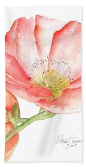 Poppy Bloom Bath Towel