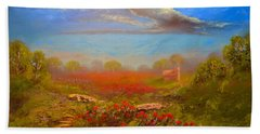 Poppy Morning Hand Towel