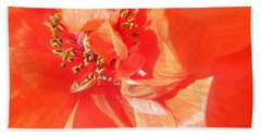 Hand Towel featuring the photograph Poppy Palette In Red by Brian Boyle